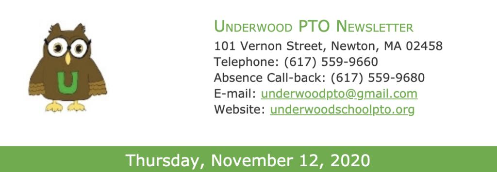 PTO Newsletter, November 12, 2020