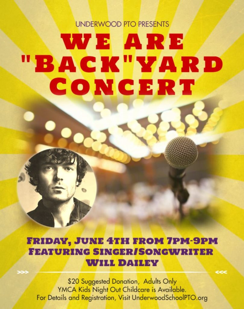 """We Are """"Back"""" Yard Concert - June 4th"""