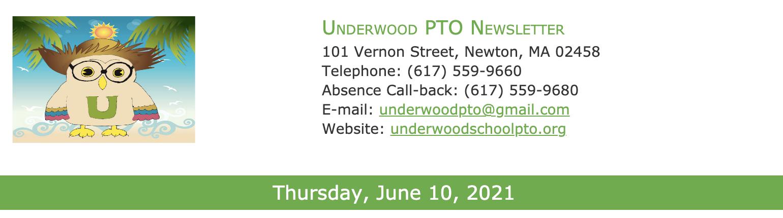 PTO Newsletter - June 10th, 2021