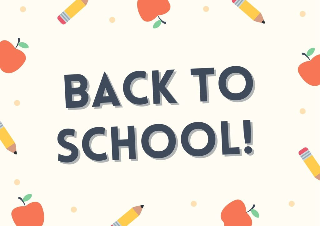 First Day of School is tomorrow! :)